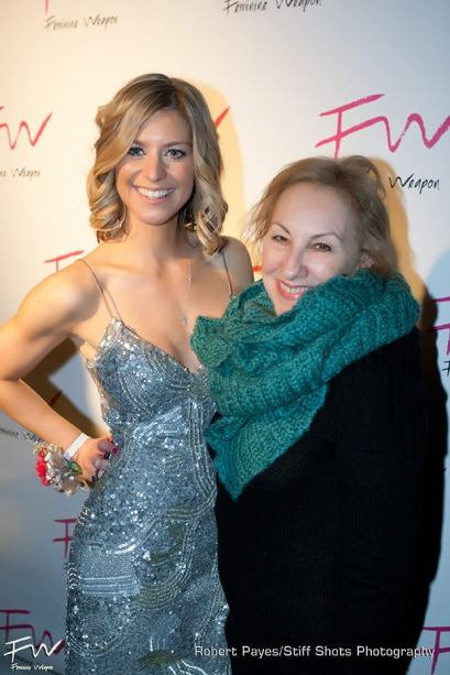 Feminine Weapon founder Christina Weber with Jan Mundo